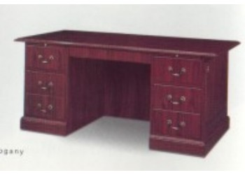 Traditional desk mahogany laminate