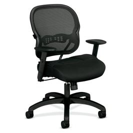 Ergonomic mesh back task chair with 2-to-1 synchro tilt mechanism, Mesh seat cushion