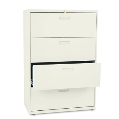 "4 Drawer Locking Lateral File 36"" putty"