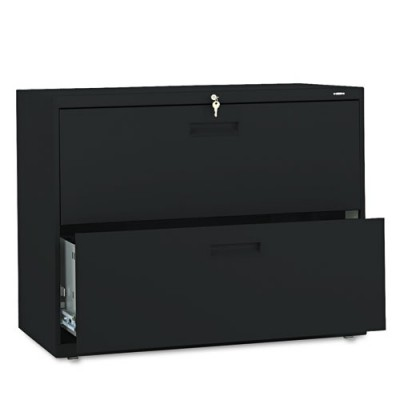 "2 Drawer Locking Lateral File 36"" black"