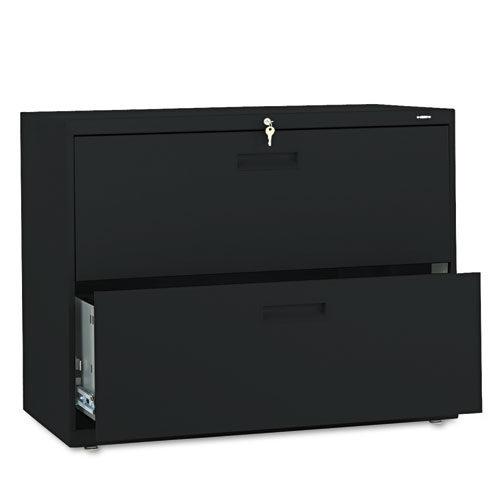 """2 Drawer Locking Lateral File 36"""" black"""