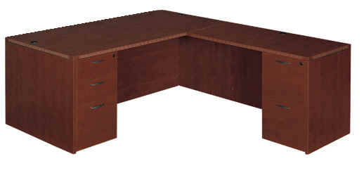 "Executive 30"" x 66"" desk with 24"" x 48"" return"