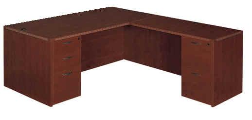 "Executive 30"" x 66"" desk with 24"" x 48"" return"