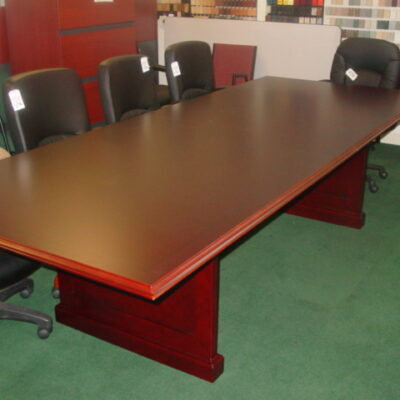 10' Traditional rectangular conference table with power grommet