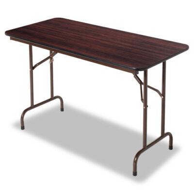 "48"" Rectangular Folding Table Mahogany"