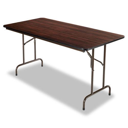 60w x 30d x 29h Rectangular Folding Table Mahogany
