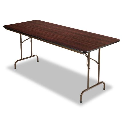 6' Rectangular Folding Table Mahogany