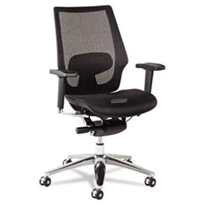 ALKE42 Ergonomic Multifunction Mesh Chair Aluminum Base/Frame Black
