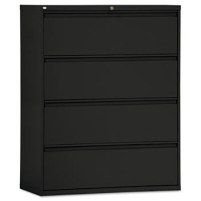 ALAF 42w Four-Drawer Lateral File Black