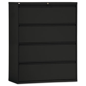 42w 4-Drawer Lateral File Cabinet Black