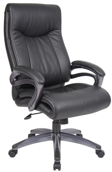 pillow top high back leather executive chair b866 mad man mund