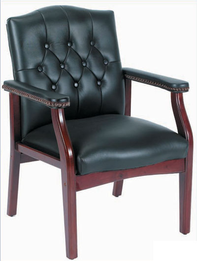 Traditional Guest Chair black/mahogany