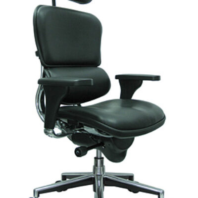 ME9 Ergonomic multi-function high back leather chair w/ head rest