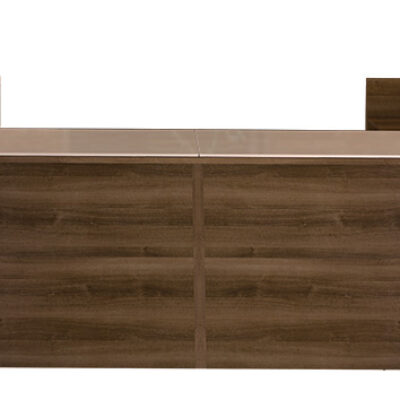 SDCA 12' double reception desk walnut