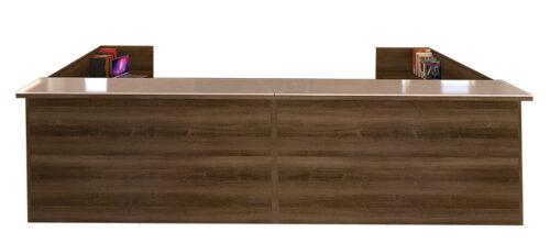 """12' x 6'5"""" double reception desk"""