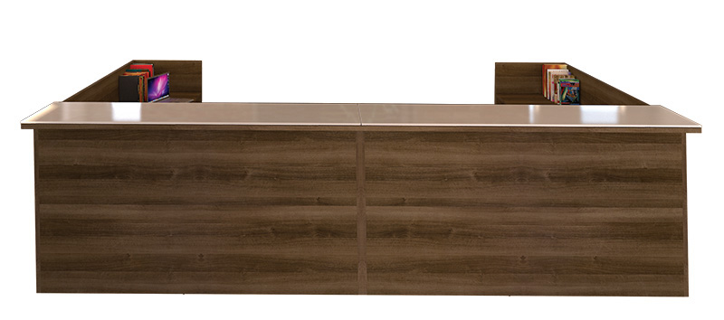 "12' x 6'5"" double reception desk"