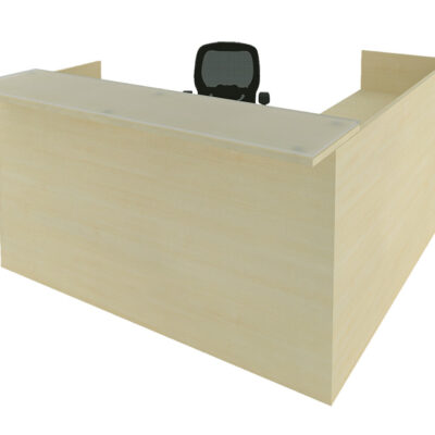 SDCA Laminate reception desk maple