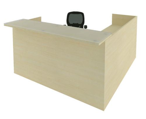 Laminate reception desk maple