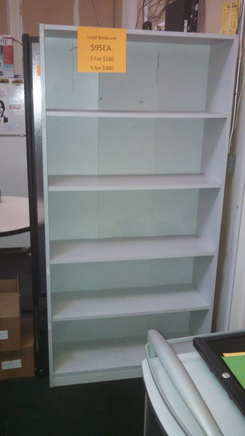 Used 6' bookcase gray