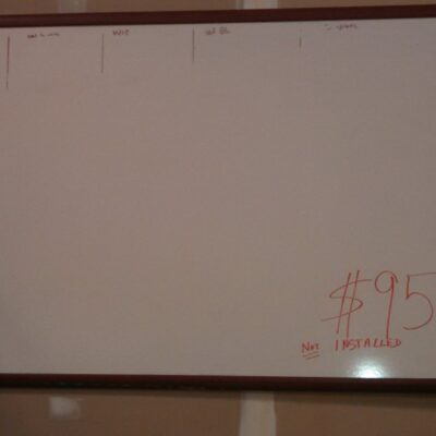 Dry erase board 3' x 4' used
