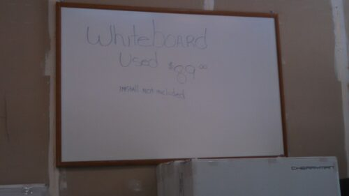 Used dry erase white board 4' x 6'