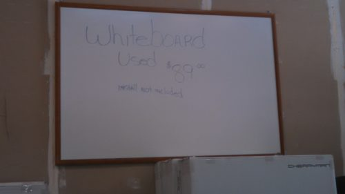 Used dry erase white board 4' x 6'