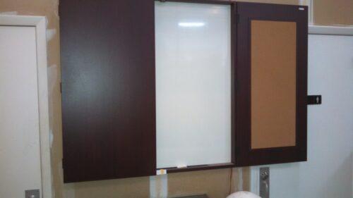 2-Door presentation cabinet mahogany
