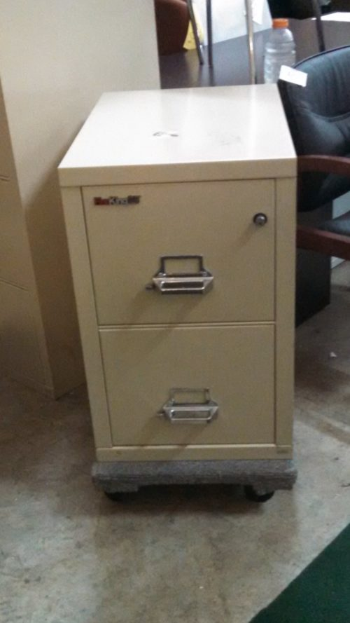 2-Drawer Fire File with lock putty