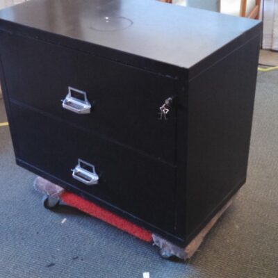 Used 2-drawer insulated lateral file Black