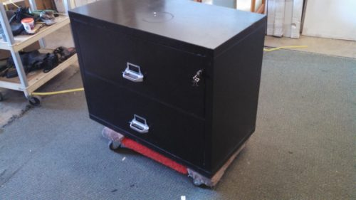 Used 2-drawer fire lateral file Black