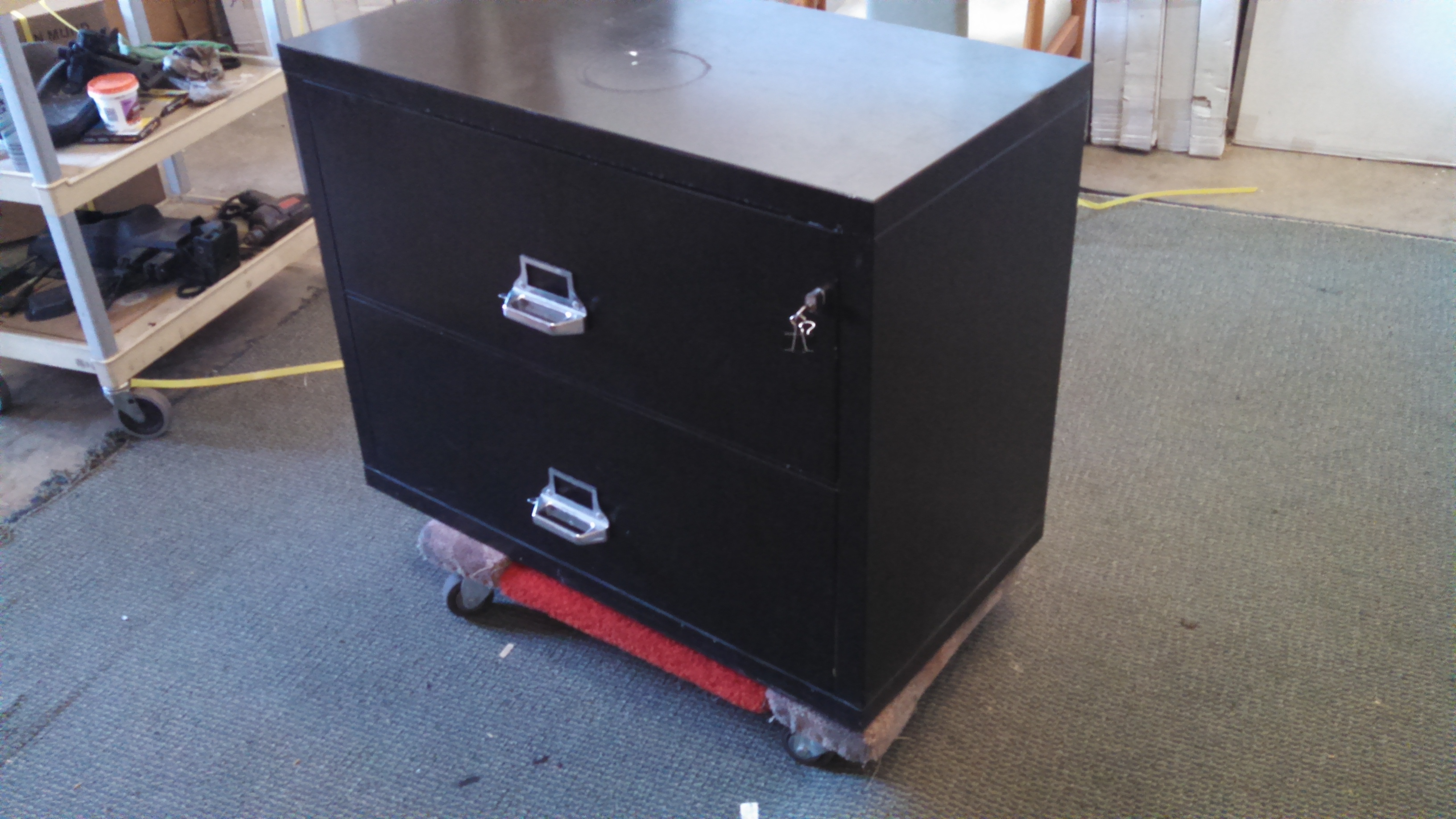 Used 2 Drawer Lateral Fire File Black Mad Man Mund