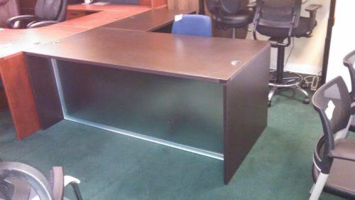 6' x 6' L-shape desk acrylic front