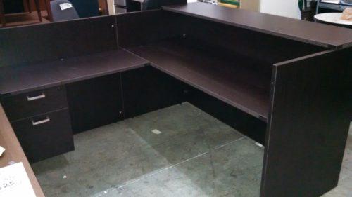 "6' x 6'6"" Reception desk"