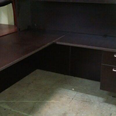 """SDCA-RTA 5'6"""" x 6' L-shape desk espresso"""