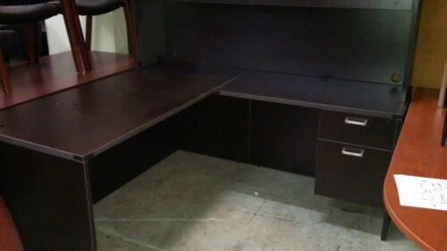 L-shape desk special 5.5'x6' espresso RTA