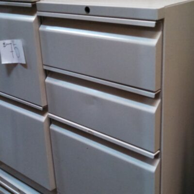 Used HON File/File Pedestal gray