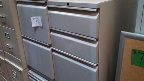 Used HON File/File Pedestal gray