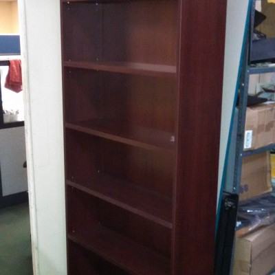 7' laminate bookcase special mahogany
