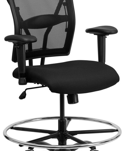 Big Amp Tall Mesh Drafting Stool Mad Man Mund Office Furniture
