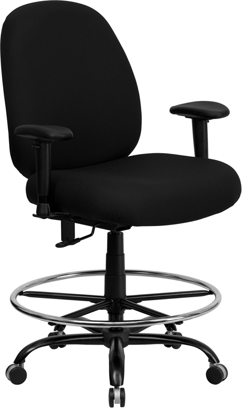 Contemporary ergonomic Big & Tall Office Drafting Stool