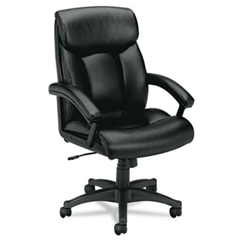 Executive High-Back Leather Chair Black