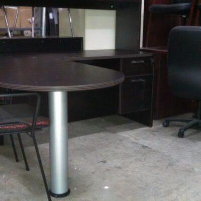 """SDCA 66"""" X 72"""" Bullet L Desk espresso"""