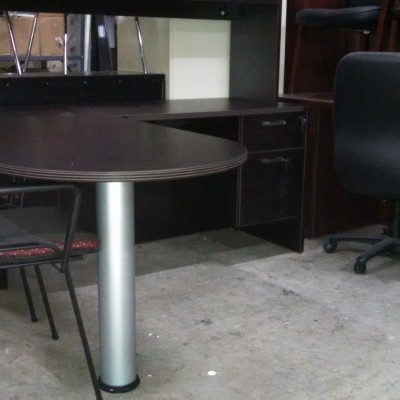 Small Bullet L Desk Espresso