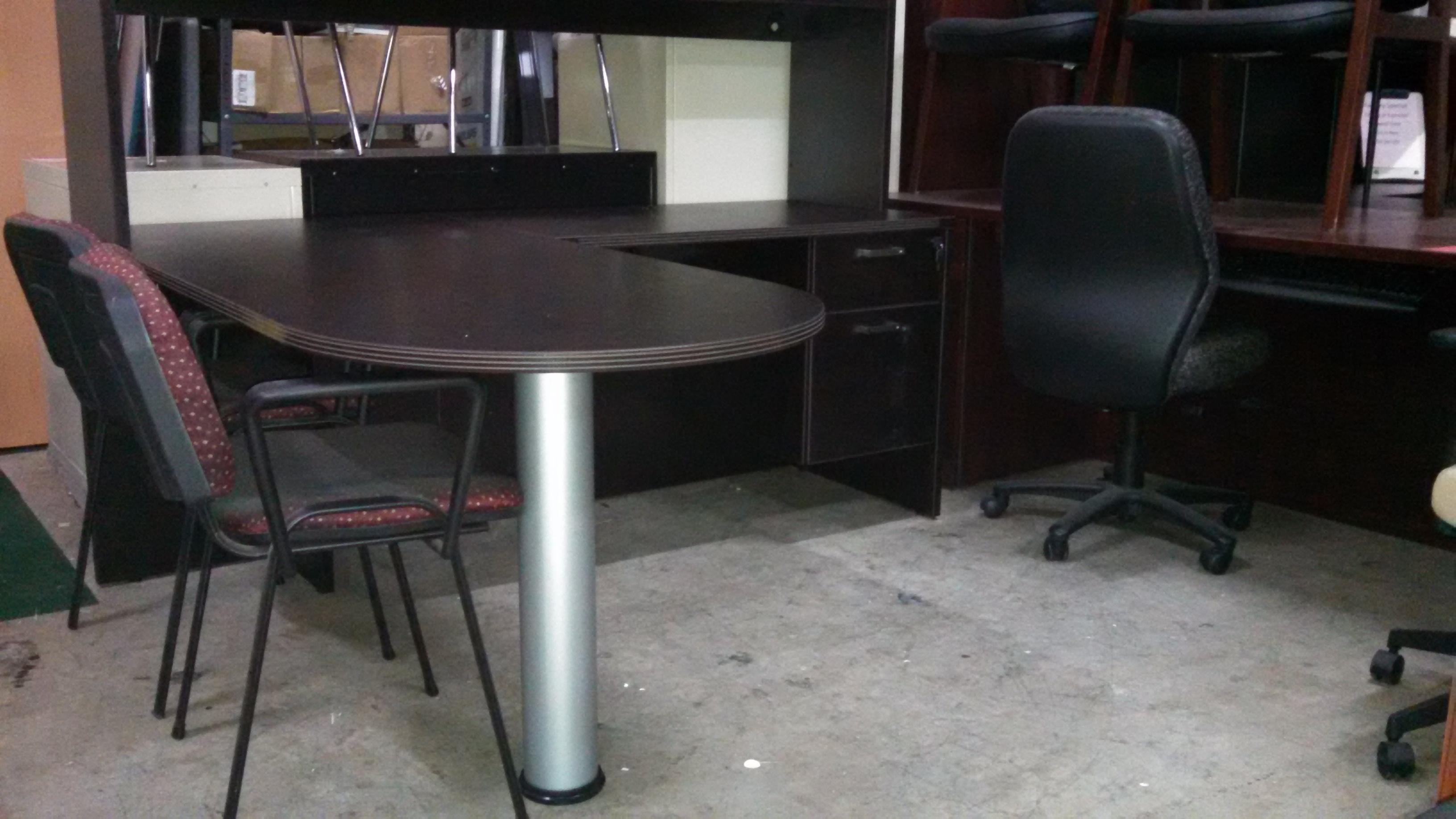 Small Bullet L Desk Espresso