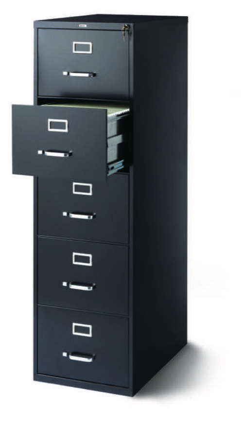 OD 5-Drawer legal black