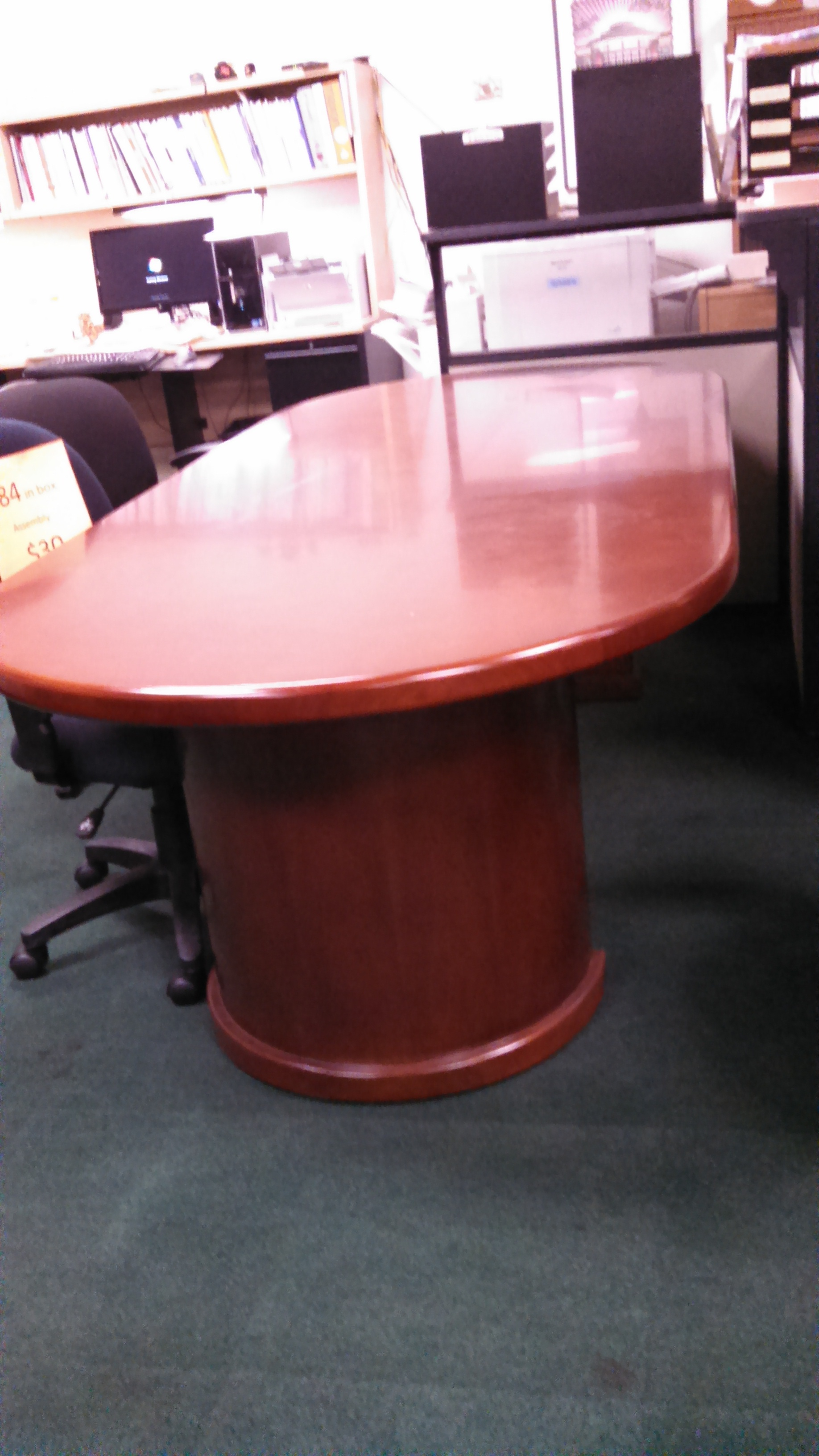 Cherryman Ruby 8u2032 Oval Racetrack Wood Veneer Conference Table
