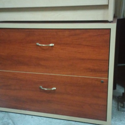 2-drawer lateral file cherry & maple close-out