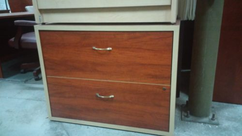 2-drawer lateral file cherry & maple