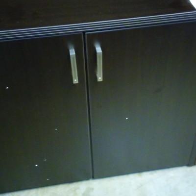 2-Door Storage Cabinet Espresso