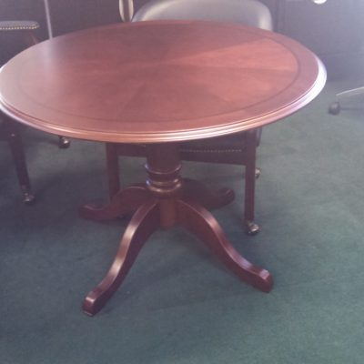 Traditional round conference table